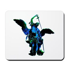 Powerful Angel - Blue Mousepad