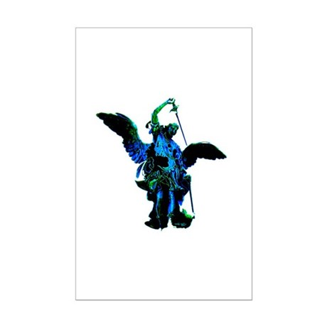 Powerful Angel - Blue Mini Poster Print