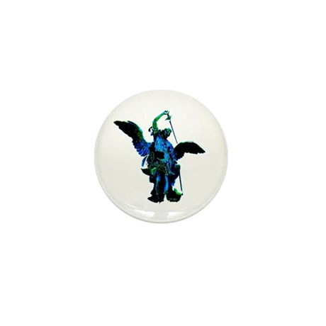 Powerful Angel - Blue Mini Button