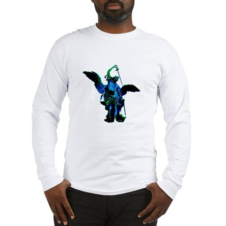 Powerful Angel - Blue Long Sleeve T-Shirt