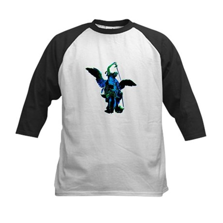 Powerful Angel - Blue Kids Baseball Jersey