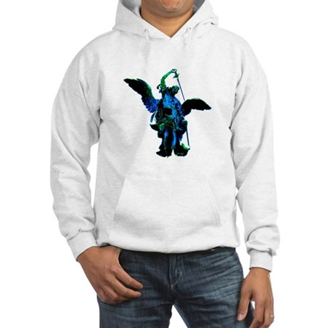 Powerful Angel - Blue Hooded Sweatshirt