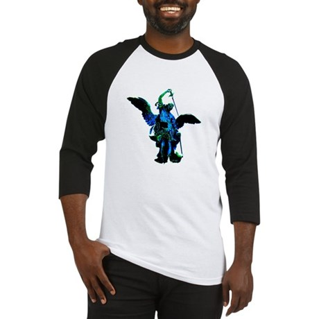 Powerful Angel - Blue Baseball Jersey