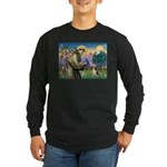 Saint Francis / Beagle Long Sleeve Dark T-Shirt