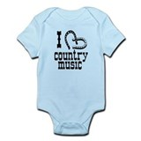 I Love Country Music Infant Bodysuit