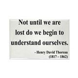 Henry David Thoreau 28 Rectangle Magnet (10 pack)