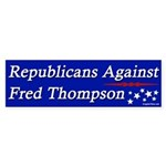 Republicans Against Fred Thompson Sticker