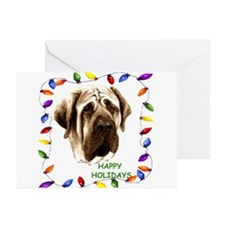 Cute Mastiff christmas Greeting Cards (Pk of 10)