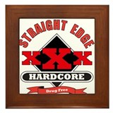 XXX Drug Free Framed Tile