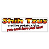 Potato Chips Shih Tzu Bumper Bumper Sticker