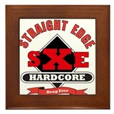 sXe drug free Framed Tile