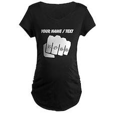 Boss Knuckle Tattoo (Custom) Maternity T-Shirt