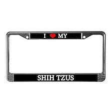 Love Shih Tzus License Plate Frame