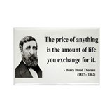 Henry David Thoreau 30 Rectangle Magnet
