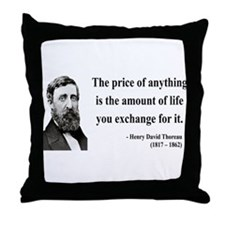 Henry David Thoreau 30 Throw Pillow