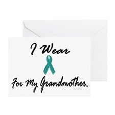 I Wear Teal For My Grandmother 1 Greeting Cards (P