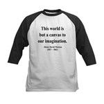 Henry David Thoreau 3 Kids Baseball Jersey