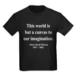 Henry David Thoreau 3 Kids Dark T-Shirt