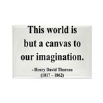 Henry David Thoreau 3 Rectangle Magnet (10 pack)