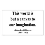 Henry David Thoreau 3 Rectangle Sticker