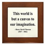 Henry David Thoreau 3 Framed Tile