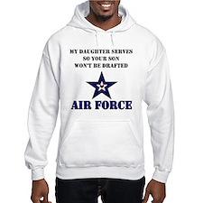My Daugher Serves - Air Force Hoodie