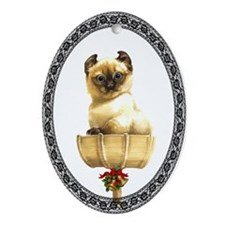 American Curl Kitty Oval Ornament