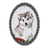 Alaskan Malamute Puppy Oval Ornament