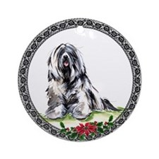 Tibetan Terrier Ornament (Round)