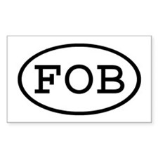 FOB Oval Rectangle Decal