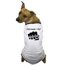 Hate Knuckle Tattoo (Custom) Dog T-Shirt