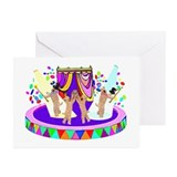 SOFT COATED WHEATEN TERRIER CIRCUS Greeting Cards