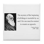 Charles Darwin 7 Tile Coaster