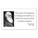 Charles Darwin 7 Rectangle Sticker