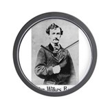 John Wilkes Booth Wall Clock