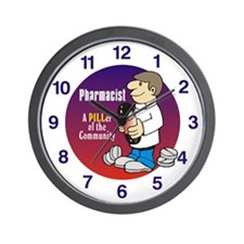 Cute Pharmacist Wall Clock
