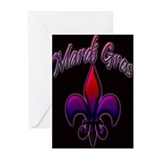 Unique Mardigras Greeting Cards (Pk of 10)