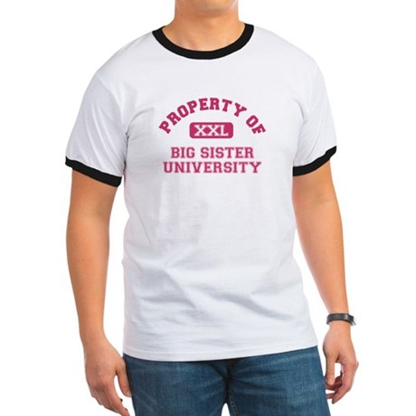 ADULT SIZES big sister varsity Ringer T