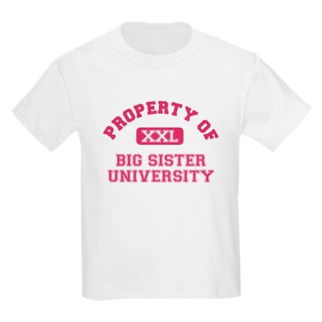 big sister varsity Kids Light T-Shirt