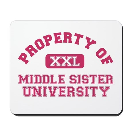 middle sister university Mousepad