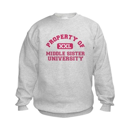 middle sister university Kids Sweatshirt
