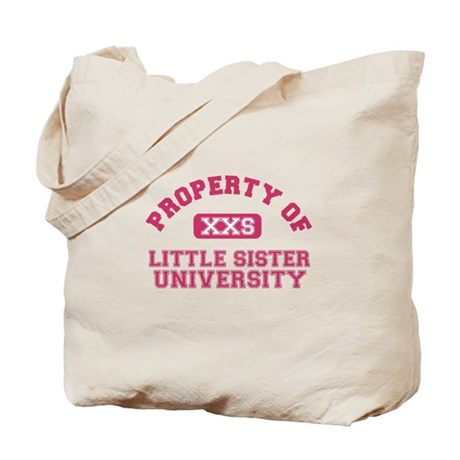 little sister university Tote Bag