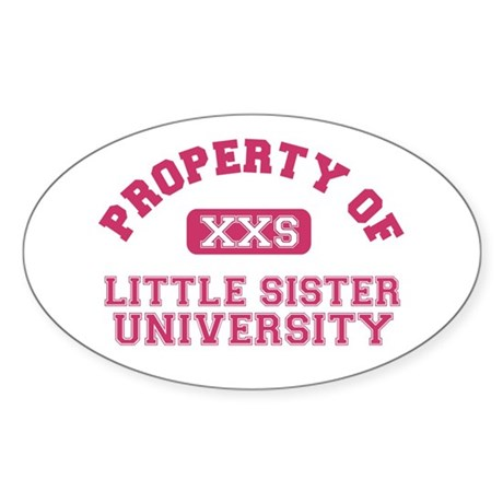 little sister university Oval Sticker