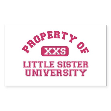 little sister university Rectangle Sticker