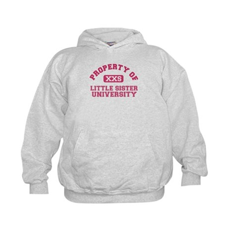 little sister university Kids Hoodie