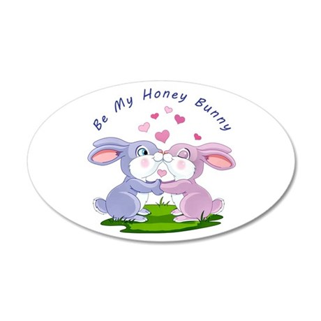 Honey Bunny- 20x12 Oval Wall Decal
