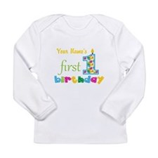 First Birthday - Person Long Sleeve Infant T-Shirt
