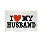 I Love My Husband Rectangle Magnet
