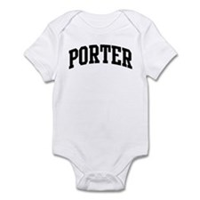 PORTER (curve-black) Infant Bodysuit