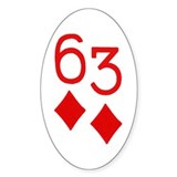 Six Trey of Diamonds Poker Bumper Decal
